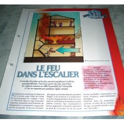 """FICHE FASCICULE POMPIERS COLLECTION """" LES SAPEURS POMPIERS ET VOUS """" fiche 9 collection occasion"""