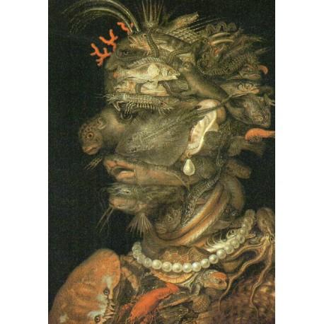 "CARTE POSTALE NEUVE VIERGE COLLECTION "" GIUSEPPE ARCIMBOLDO , l´eau 1566 """