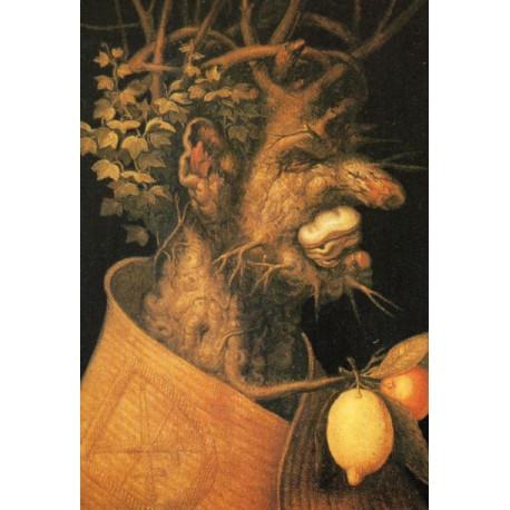 "CARTE POSTALE NEUVE VIERGE COLLECTION "" GIUSEPPE ARCIMBOLDO , l´hiver 1573 "" 02"