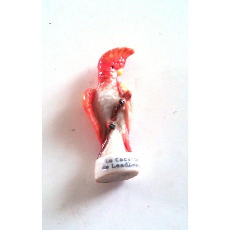 Ancienne fèves collection oiseau cacatoès de Leadbester