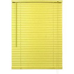 Store vénitien lames pvc jaune H.190 cm largeur 105 cm neuf