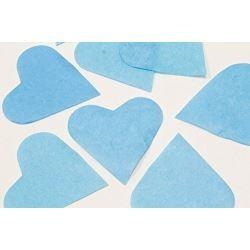 Sachet 75g de CONFETTIS coeur 5cm - en papier couleur bleu FÊTES MARIAGE BAPTÊME ANNIVERSAIRE Mariage neuf
