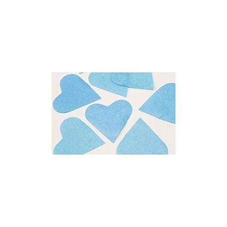 FÊTES MARIAGE BAPTÊME ANNIVERSAIRE Mariage Sachet 75g de CONFETTIS coeur 5cm - en papier couleur bleu