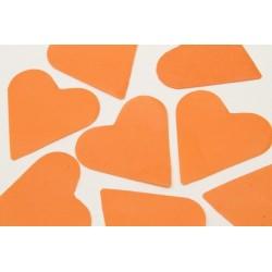 FÊTES MARIAGE BAPTÊME ANNIVERSAIRE Mariage Sachet 75g de CONFETTIS coeur - en papier couleur orange
