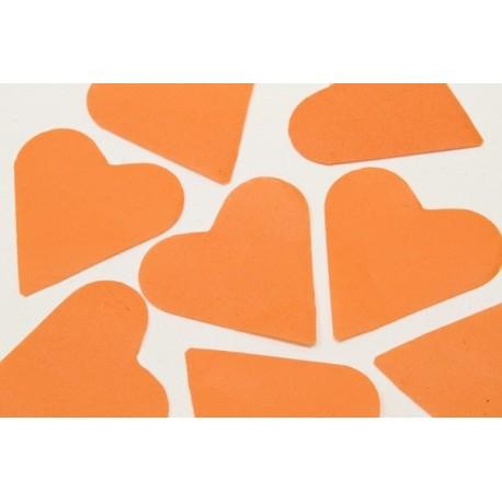 FÊTES MARIAGE BAPTÊME ANNIVERSAIRE Mariage Sachet 75g de CONFETTIS coeur 5cm - en papier couleur orange