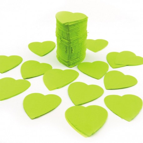 FÊTES MARIAGE BAPTÊME ANNIVERSAIRE Mariage Sachet 75g de CONFETTIS coeur 5cm - en papier couleur vert