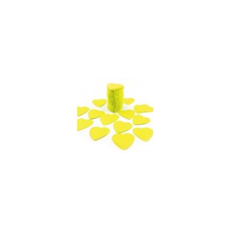 FÊTES MARIAGE BAPTÊME ANNIVERSAIRE Mariage Sachet 75g de CONFETTIS coeur 5cm - en papier couleur jaune