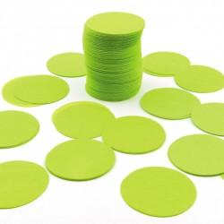 FÊTES MARIAGE BAPTÊME ANNIVERSAIRE Sachet 75g de CONFETTIS ovale/rond - en papier couleur vert