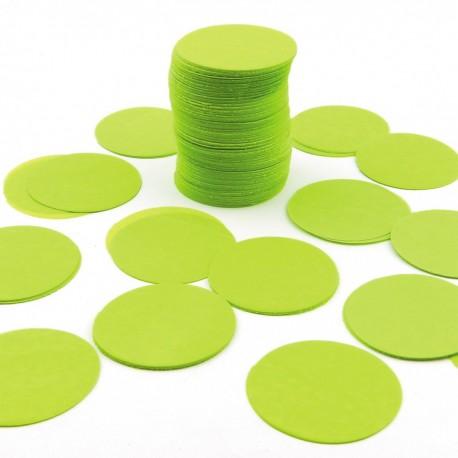 FÊTES MARIAGE BAPTÊME ANNIVERSAIRE Sachet 75g de CONFETTIS ovale - en papier couleur vert