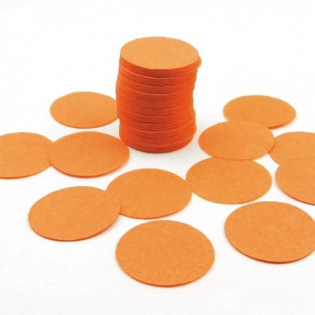 FÊTES MARIAGE BAPTÊME ANNIVERSAIRE Sachet 75g de CONFETTIS ovale/rond - en papier couleur orange
