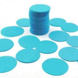 Sachet 75g de CONFETTIS ovale/rond - en papier couleur bleu FÊTES MARIAGE BAPTÊME ANNIVERSAIRE NEUF