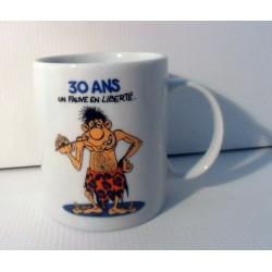 Tasse mug 30 ans un fauve en liberté idée cadeau anniversaire fête neuve