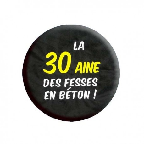 IDÉES CADEAU ANNIVERSAIRE COUSSIN LA 30 AINE NOIR NEUF