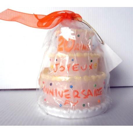 Idée anniversaire Bougie la 20 aine - neuve