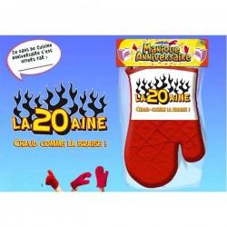 Manique gant rouge humoristique La 20 aine v02 idée cadeau anniversaire neuf