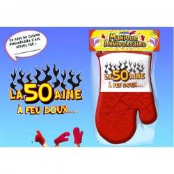 Manique gant rouge humoristique La 50 aine idée cadeau anniversaire neuf