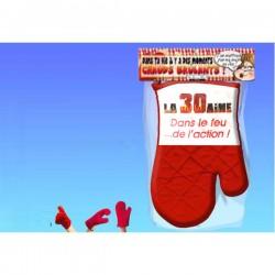 Manique gant rouge humoristique La 30 aine idée cadeau anniversaire neuf