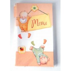 Fête anniversaire lot de 6 menus enfant motifs bébé
