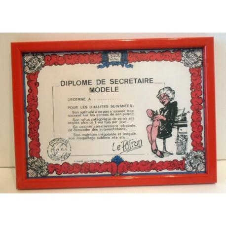 FÊTES ANNIVERSAIRE HUMOUR cadre diplôme de la secrétaire modèle
