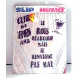 FÊTES ANNIVERSAIRE HUMOUR SLIP HUMORISTIQUE CLUB DES 80 ANS FEMME
