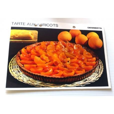 """FICHE CUISINE vintage rétro la bonne cuisine desserts """"tarte aux abricot """""""