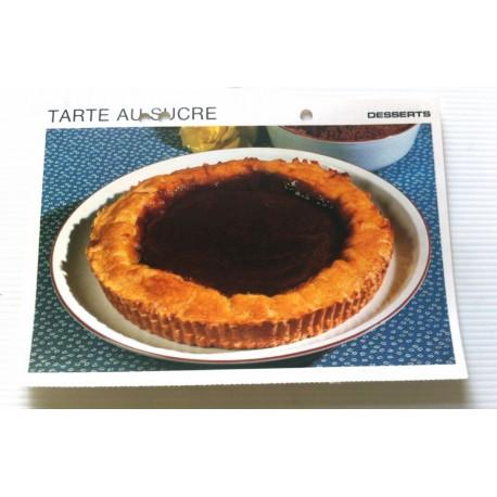 """FICHE CUISINE vintage rétro la bonne cuisine desserts """"tarte au sucre """""""