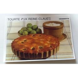 """FICHE CUISINE vintage rétro la bonne cuisine desserts """"tourte aux reine claude"""""""
