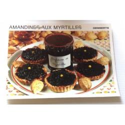 """FICHE CUISINE vintage rétro la bonne cuisine desserts """"amandines aux myrtilles"""""""
