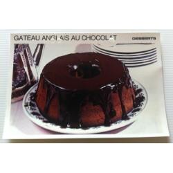 """FICHE CUISINE vintage rétro la bonne cuisine desserts """"gâteau anglais au chocolat"""""""