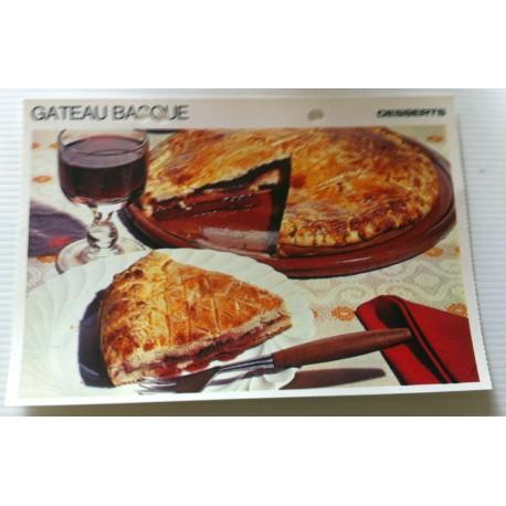 """FICHE CUISINE vintage rétro la bonne cuisine desserts """"gâteau basque """""""