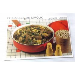 """FICHE CUISINE vintage rétro la bonne cuisine plats uniques """"FRICASSÉE DE LIMOUX """""""