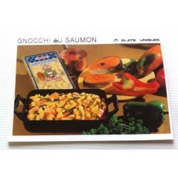 """FICHE CUISINE vintage rétro la bonne cuisine plats uniques """" GNOCCHI AU SAUMON """""""