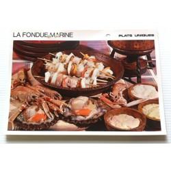 """FICHE CUISINE vintage rétro la bonne cuisine plats uniques """"LA FONDUE MARINE """""""