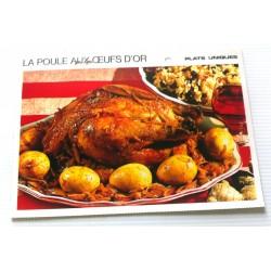 """FICHE CUISINE vintage rétro la bonne cuisine plats uniques """" LA POULE AUX ŒUFS D'OR """""""