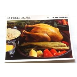"""FICHE CUISINE vintage rétro la bonne cuisine plats uniques """" LA POULE AU RIZ """""""