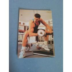 Carte Postale de Star - People - Jean Claude Van Damme - Musculation