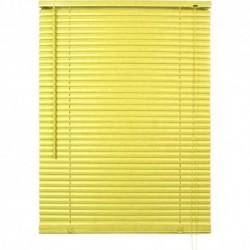 Store vénitien lames pvc jaune/vert anis H.130 cm largeur 90 cm fenetre rideaux déco neuf