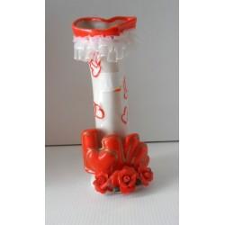 FÊTES ST VALENTIN MARIAGE vase céramique blanc rouge neuf