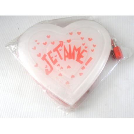 FÊTES ST VALENTIN MARIAGE carnet intime secret je t'aime blanc rouge cœur