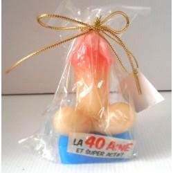 Bougies humour cadeau fête anniversaire zizi la 40 aine neuve