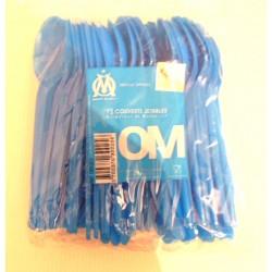 lot de 72 couverts en plastique bleus FÊTES FOOT OFFICIEL Droit au but-Olympique de Marseille neuf