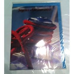 Carte postale neuve avec enveloppe joyeux anniversaire (lot 30.01)