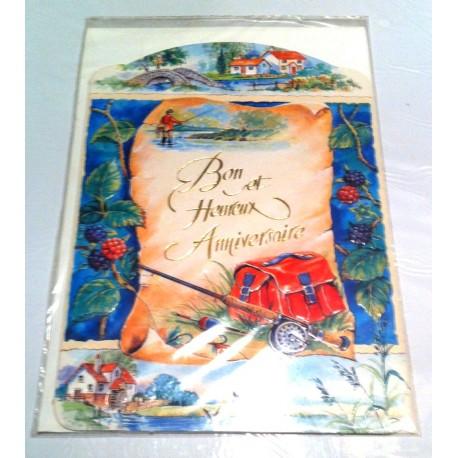 Carte postale neuve avec enveloppe joyeux anniversaire (lot 15.02) - Amzalan.com