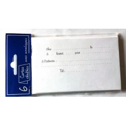 Lot de 6 Cartes invitation doubles anniversaire mariage bapteme retraite avec enveloppes blanches neuve