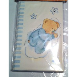 Lot de 6 faire parts naissance avec enveloppes garçon bleu NEUF