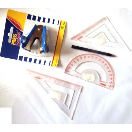 Fourniture scolaire lot set de 5 pièces bureautique collège lycée neuf 02