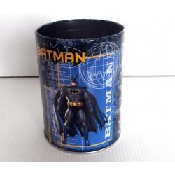 Fourniture scolaire pot a crayon métal BATMAN neuf