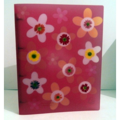 Classeur souple enfant ados ROSE FLOWERS A4 Fourniture scolaire neuf