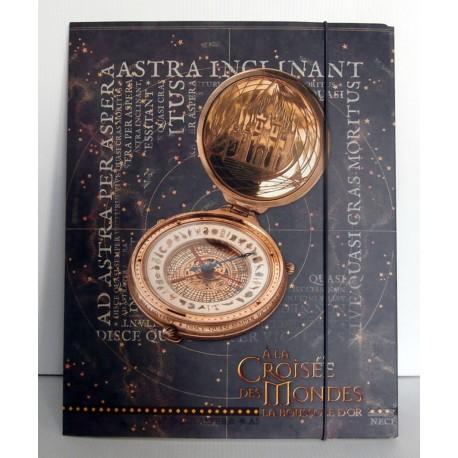 Pochette cartonnée à rabat souple enfant ados A la croisée des mondes la boussole d'or 02 A4 Fourniture scolaire neuf
