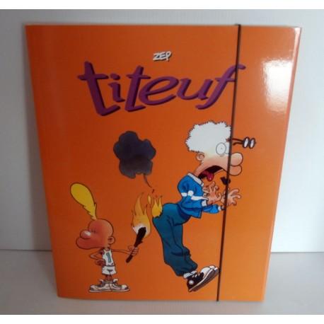 Pochette cartonnée à rabat souple enfant ados TITEUF 03 A4 Fourniture scolaire neuf